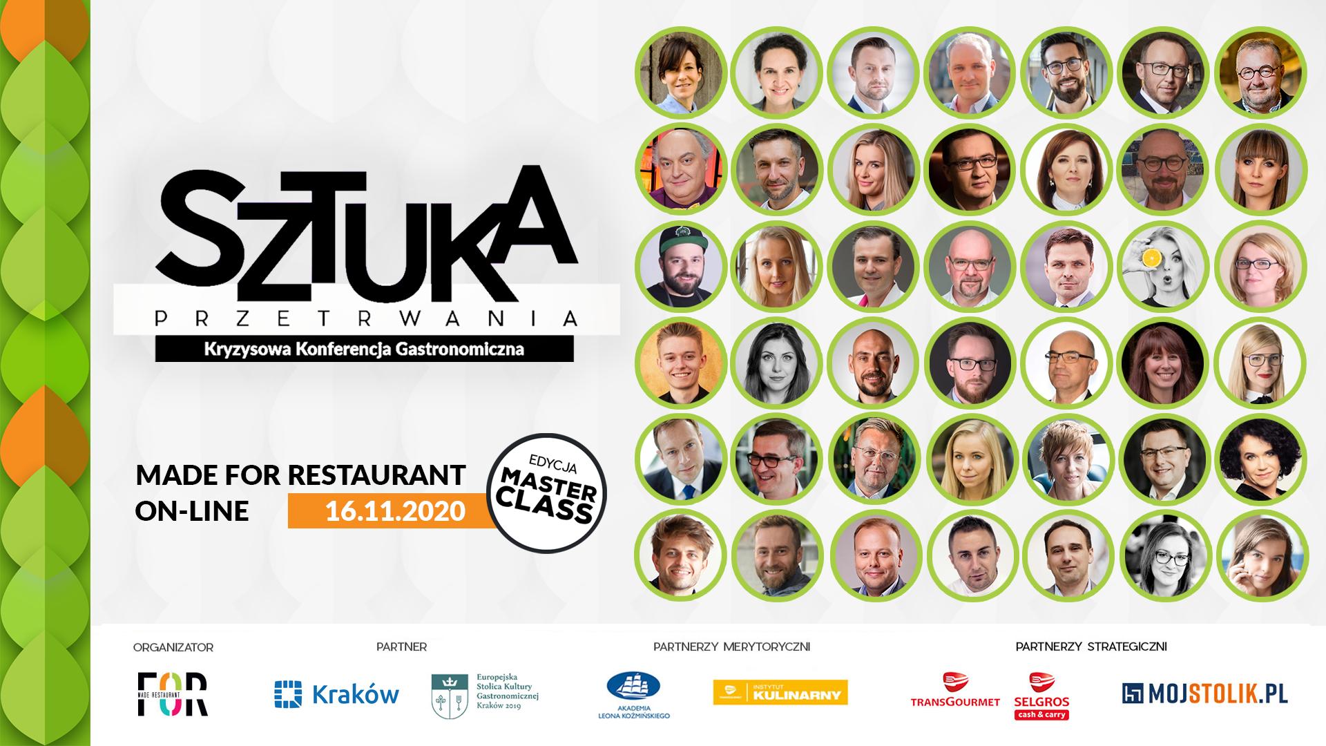 Konferencja MADE FOR Restaurant on-line 16.11